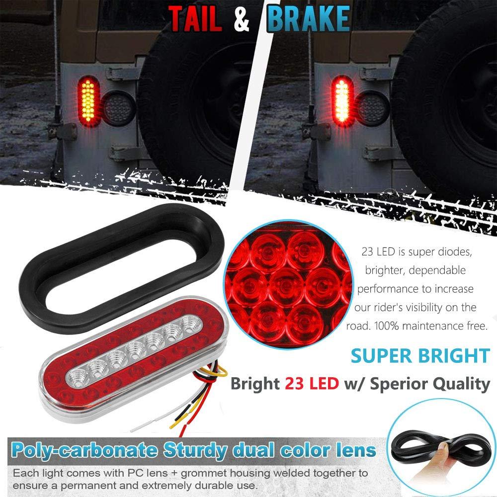 Amazon.com: Xiker - 2 luces LED de 6.5 in para remolque de ...