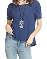 Free People Womens Linen Drapey Front Casual Top