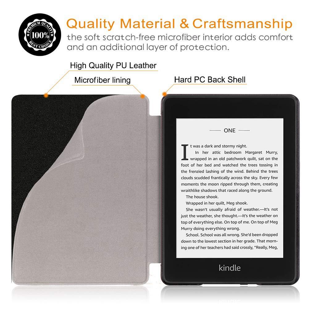 Cube 10th Generaci/ón,2018 Releases Paperwhite E-Reader Fundas Carcasa con Soporte Funci/ón Auto-Sue/ño//Estela Fundas para  Kindle Paperwhite