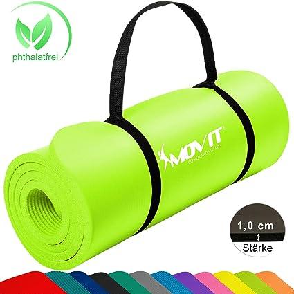 Movit® - Esterilla para Pilates - Sin ftalatos Colchoneta de Yoga/Gimnasia Homologada por la SGS - Largo 183 x 60 x 1,0 cm cm Estera de Yoga y Pilates ...