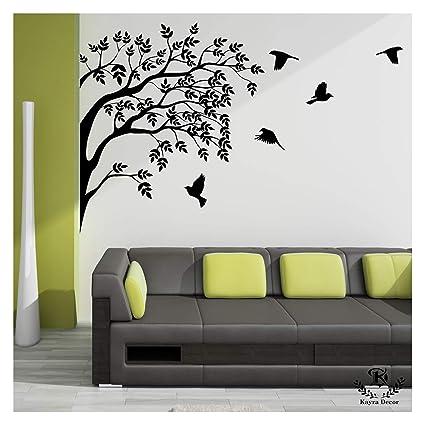 Kayra Decor Home Coming Birds Reusable Wall Stencil in Plastic Sheet (60 X 55 Inches)
