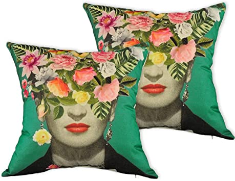 Amazon.com: Multiart Juego de 2 fundas de almohada ...
