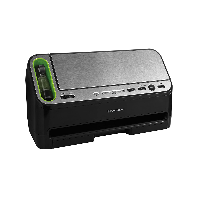FoodSaver V4440 2-in-1 Automatic Vacuum Sealing System with Bonus Built-in Retractable Handheld Sealer & Starter Kit, Black Finish