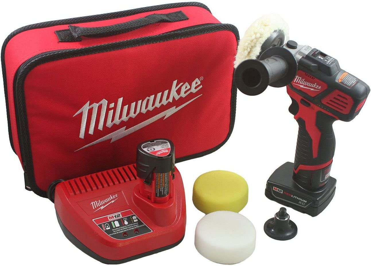 Milwaukee M12 Variable Speed Polisher Sander with Accessory Kit