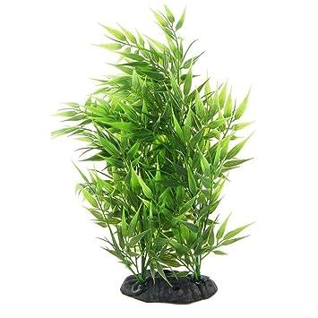 Sodial R Bambus Blaetter Form Dekoration Kuenstliches Gras Fuer