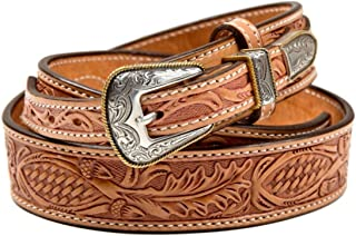 product image for Schaefer Outfitter Western Belts for Men, Classic Ranger Mens Belt in Vegetable Tanned Leather