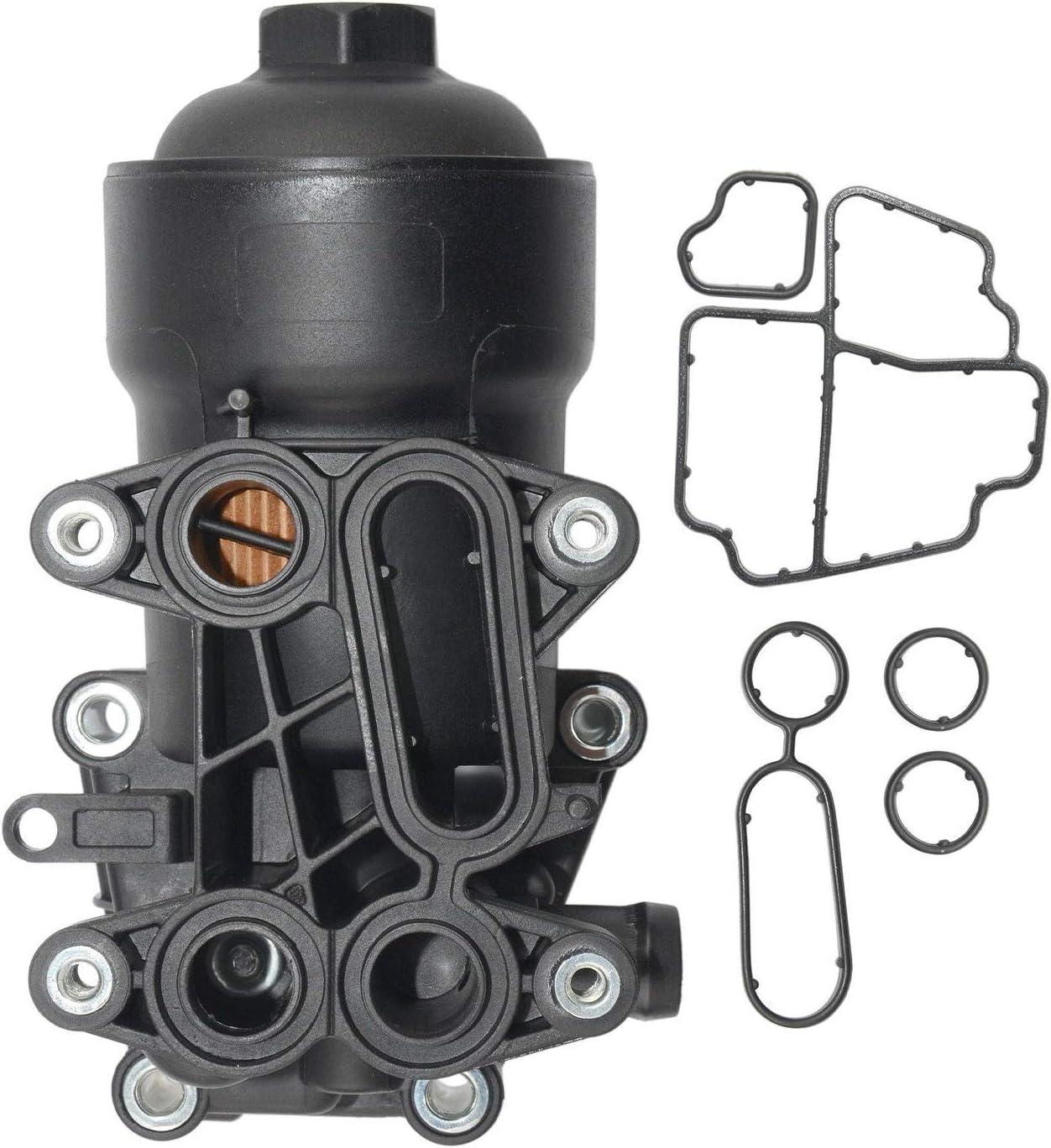 Carcasa del filtro de aceite (CAP + JUNTA) 03L115389H 03L115433C: Amazon.es: Coche y moto
