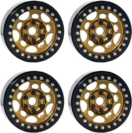 4pcs 1.9 inch Wheel Hub Beadlock Wheel Rim for 1:10 RC Rock Crawler Axial C3H1