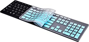 KeyCover - Keyboard Cover Compatible with Dell KM636 KB216 & Dell Optiplex 5250 3050 3240 5460 7450 7050 & Dell Inspiron AIO 3475/3670/3477 All-in one Desktop Keyboard - Gradual Mint