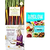Oh she glows cookbook, every day and spiralize and thrive slim 3 books collection set