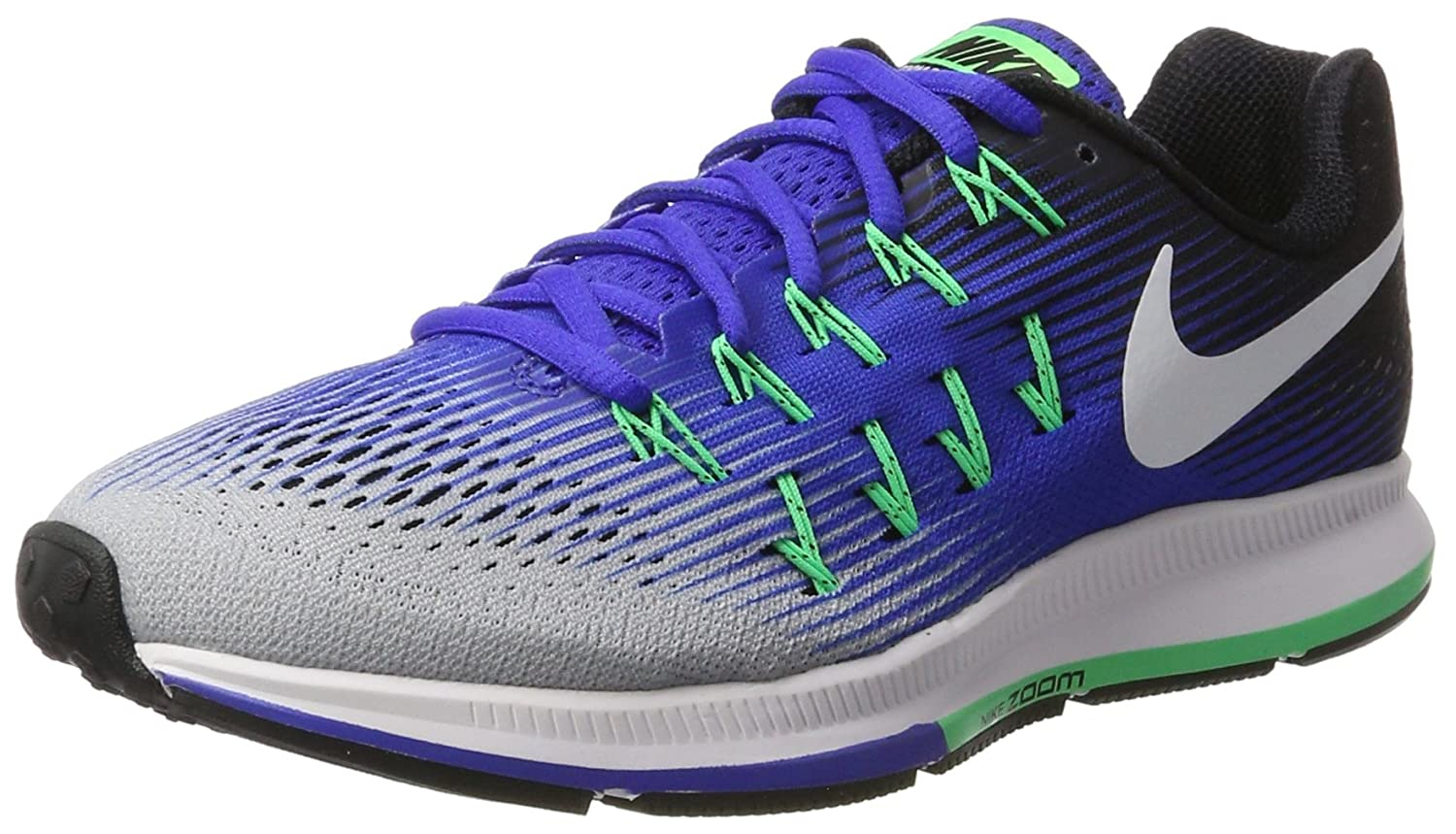 Nike Herren Air Zoom Pegasus 33 Laufschuhe  39 EU|Grau (Wolf Grey/white/cool Grey/black)