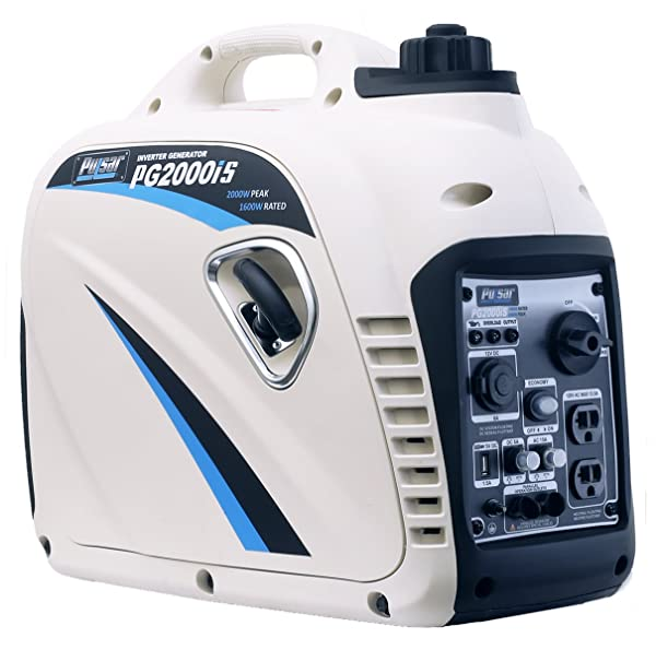 Pulsar 2,000W Portable Gas-Powered Quiet Inverter Generator with USB Outlet
