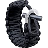 Paracord Bracelet with Fire Starter and Eye Knife Scraper by The Friendly Swede
