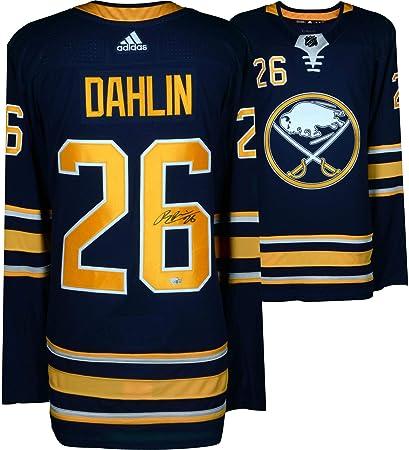 new styles 76611 c81b1 Rasmus Dahlin Buffalo Sabres Autographed Blue Adidas ...