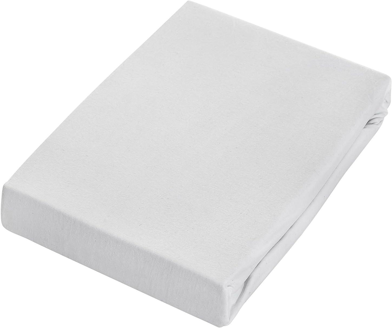 Drap-housse exclusif drap-housse hauteur de bonnet jusqu/à 25/cm drap 100//% coton 160g//m/² standard /ÖKO-TEX 90-100x200 cm hauteur de bonnet jusqu/à 25/cm, gris