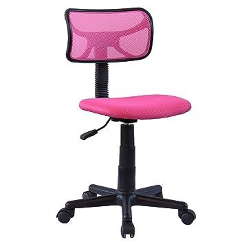 nouveau concept da2cc 39f40 IDIMEX Chaise de Bureau pour Enfant Milan Fauteuil pivotant et Ergonomique  sans accoudoirs, siège à roulettes avec Hauteur réglable, revêtement Mesh  ...