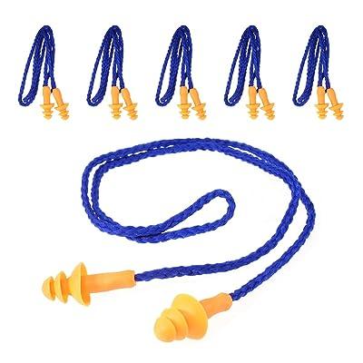 Tankerstreet 10paires de Coque en silicone doux filaire Bouchons d'oreille Défenseurs Hearing Protectors Bouchons d'oreilles pour Voyager Ronflements couchage–Bleu