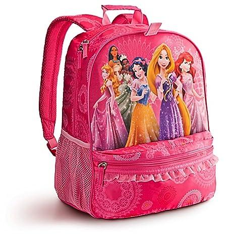 978d4e8189 Disney Store Multi Princess Backpack Rapunzel Ariel Aurora Belle   Amazon.in  Bags
