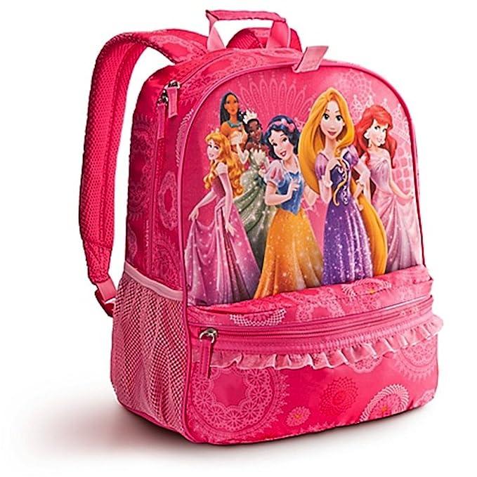 Tienda de Disney Multi Princess Mochila Rapunzel Ariel Aurora Belle: Amazon.es: Ropa y accesorios
