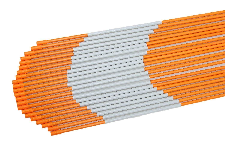 FiberMarker 48-Inch Reflective Driveway Markers Orange 50-Pack 5/16-Inch Dia Driveway Poles