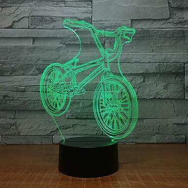 KangYD Paseo en bicicleta Lámpara 3D, Luz nocturna LED, Lámpara ...