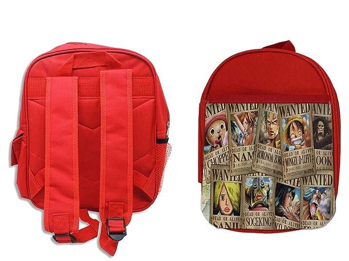 MOCHILA ROJA ONEPIECE SE BUSCA CARTEL PJ backpack rucksak  Amazon.es   Oficina y papelería e286577bd0f