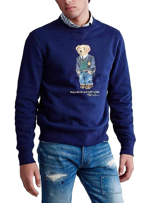 Felpa Ralph Lauren Polo Bear Preppy Marino Hombre XL Azul: Amazon ...