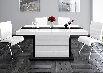 Esstisch Pianosa Tisch Ausziehbar In Super Hochglanz Acryl Amazon