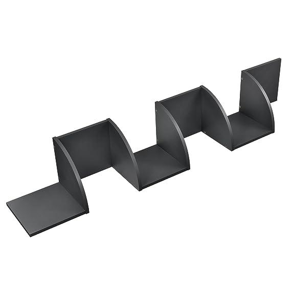 [en.casa] Estantería de pared estilosa gris oscuro mate diseño retro: Amazon.es: Hogar