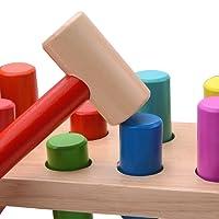 Giochi martello bambini, Martello e chiodi, Banco bambino legno martello giocattolo per bambina, martelletto giocattoli bambina 1 anno