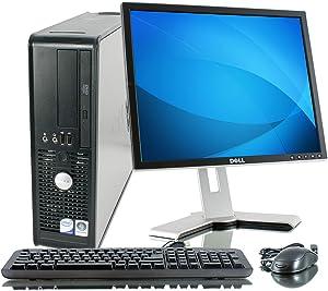 Optiplex GX780 Small Form Factor - 400GB HDD, 4GB Ram, DVD-Rom, 17in LCD Monitor, Windows XP Professional (Renewed)