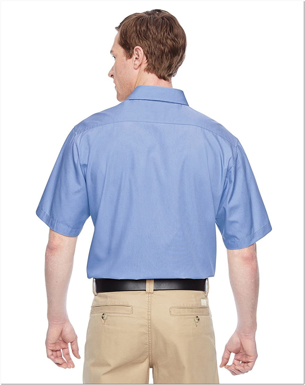 Harriton Mens Advantage Snap Closure Short-Sleeve Shirt M545
