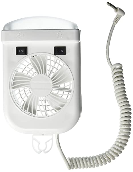 Lumitronics RV 12V Interior Reading Light - 2-Speed Fan, Extendable Cord,  On/Off Switch