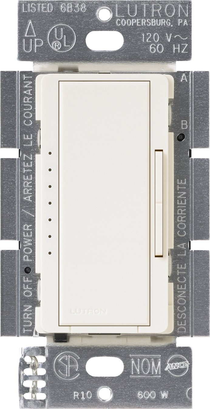 Lutron MAELV-600-WH 600-Watt Maestro Electronic Low Voltage Multi-Location  Dimmer, White - Wall Dimmer Switches - Amazon.com