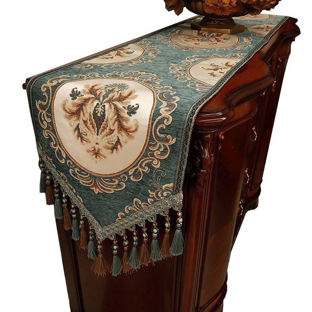 Jian E- テーブルランナー - アメリカのカントリーテーブルクロスストリップ装飾クロスコーヒーテーブルテーブルフラッグテレビキャビネットカバータオル高級ホテルベッドタオル (サイズ さいず : 35x180cm) 35x180cm  B07PS4LHG4