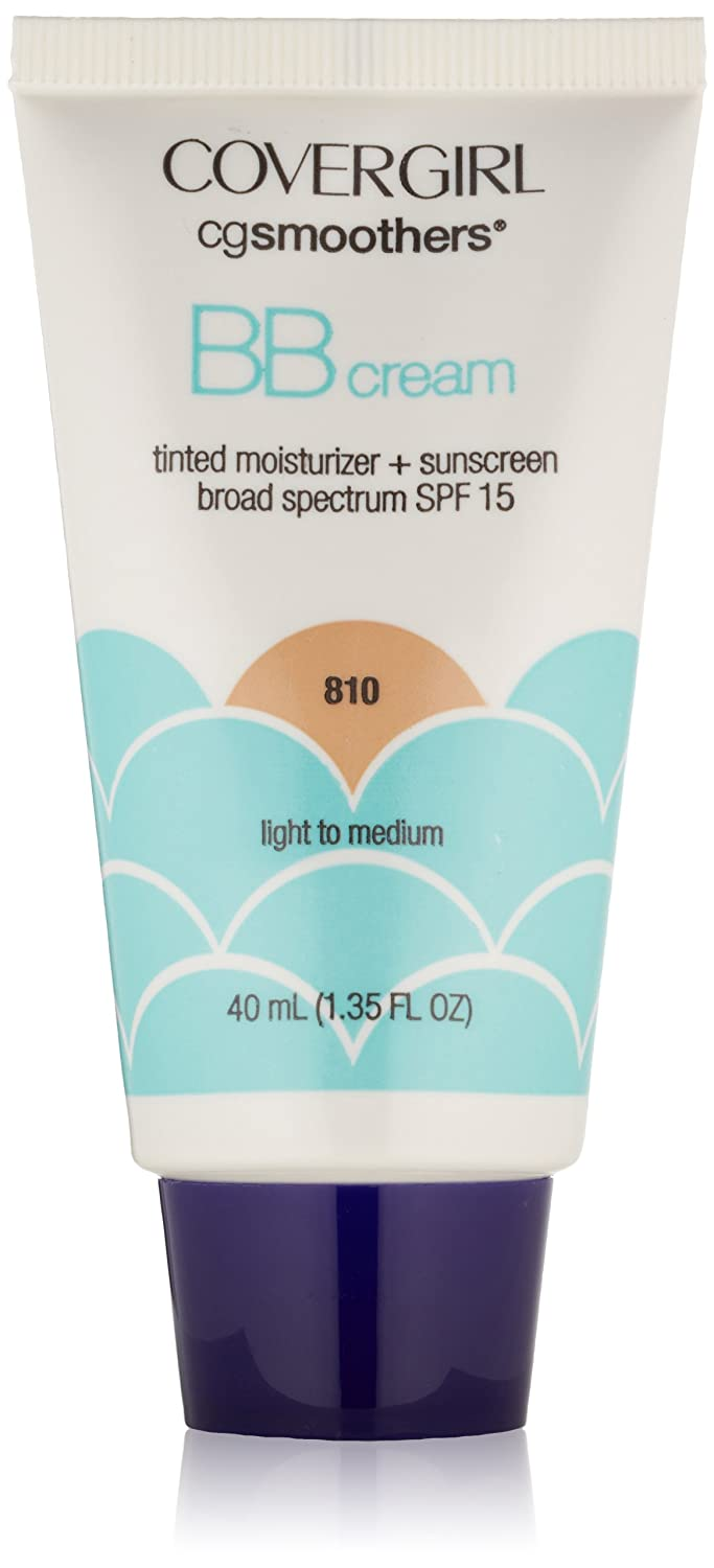 CoverGirl Smoothers SPF 15 Tinted Moisturizer, Light To Medium 810, 1.35-Ounce Packages (Pack of 2)