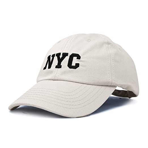 75b6347f5d7 DALIX NY Baseball Cap NY Hat New York City Cotton Twill Dad Hat in Beige