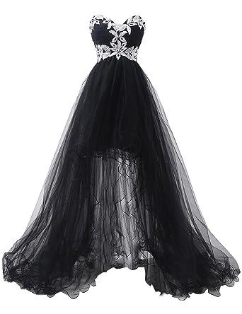 Dressyu Lace Appliqued Tulle Gothic Wedding Dresses Corset Bridal ...