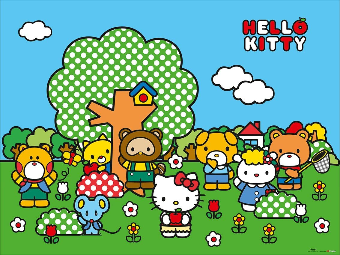 Amazon Com Ag Design Hello Kitty Friends 4 Part Photo Mural