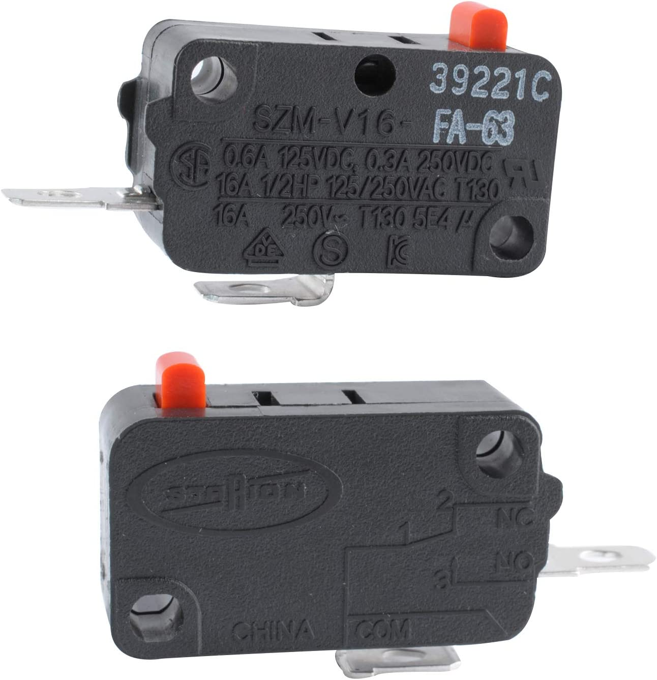 Swess ZM-V16-FD-63 Micro Switch Compatible with LG GE Starion SZM-V16-FA-63 FA-63 Microwave Door Switch