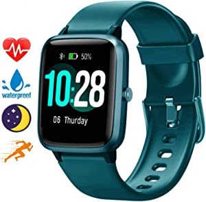 """Blackview Smart Watch for Android Phones and iOS Phones, All-Day Activity Tracker with Heart Rate Sleep Monitor, 1.3"""" Full Touch Screen, 5ATM Waterproof Pedometer, Smartwatch for Men Women"""