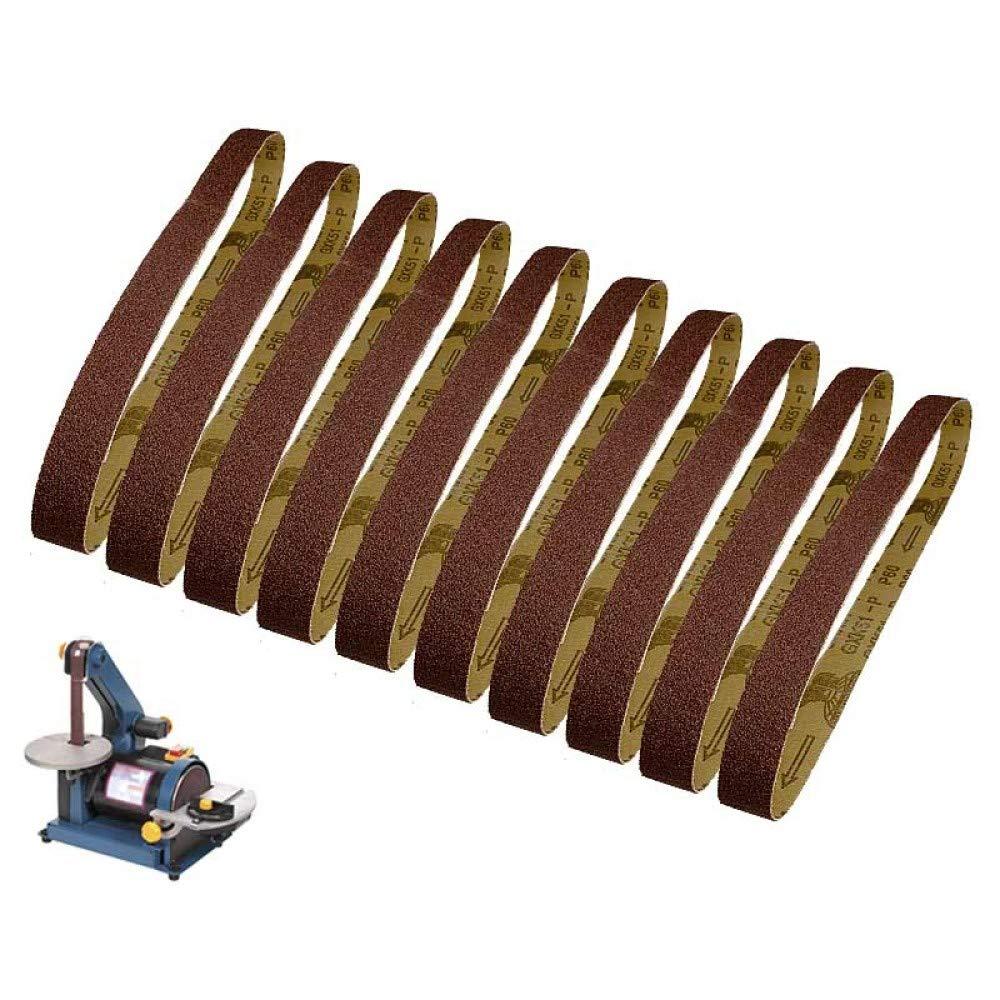 grana 120 FQD/&BNM carta vetrata 10pcs 25x762mm abrasivo nastro abrasivo 1x30 levigatrice a nastro carta vetrata strumenti per la lavorazione del legno accessori