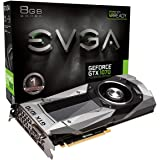 EVGA GeForce GTX 1070 Founders Edition, 8GB GDDR5, LED, DX12 OSD Support (PXOC) Graphics Card 08G-P4-6170-KR