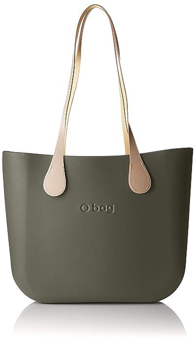 O Bag b001, bolso de mano para mujer, Gris (volcán), 14