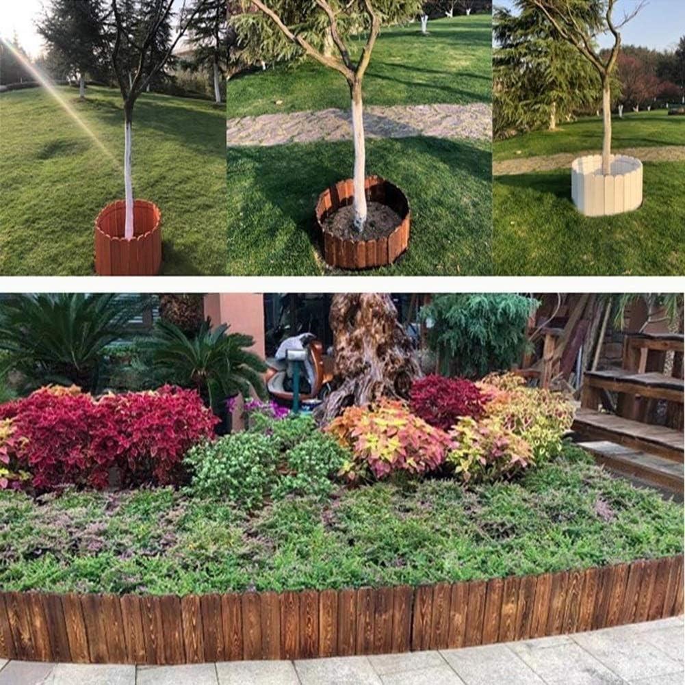 YINUO Cercos Jardín poste de la cerca de la pantalla del césped del jardín poste de la cerca Consejo de diseño de madera de alta temperatura de la resistencia Fácil de instalar
