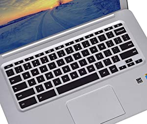 Keyboard Cover Compatible HP Chromebook x360 11.6 / HP Chromebook 11 G2, G3, G4, G5, G6 EE, G7 EE 11.6 inch/HP Chromebook 14 14-ak 14-ca 14-db 14 inch/HP Chromebook 14 G2 G3 G4 G5 - Black