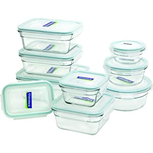 Glasslock 1129218-Piece Assorted Oven Safe Container Set
