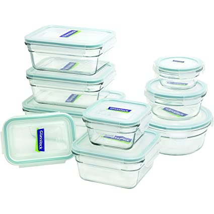 Amazon Com Glasslock 11292 18 Piece Assorted Oven Safe Container