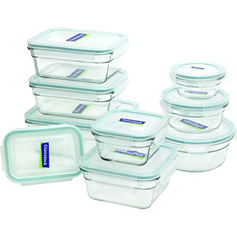 Amazoncom Glasslock 11292 18 Piece Assorted Oven Safe Container