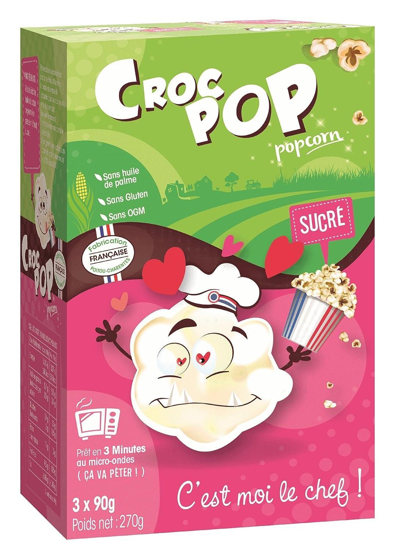 Popcorn CROC POP lote de microondas dulce de 12 cajas de 3x90G ...